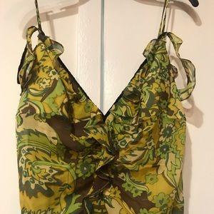 Kay Unger Dresses - Paisley green vintage maxi dress